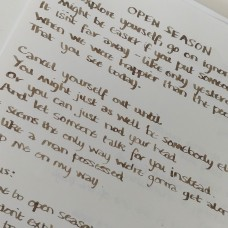 Handwritten Lyric Sheet